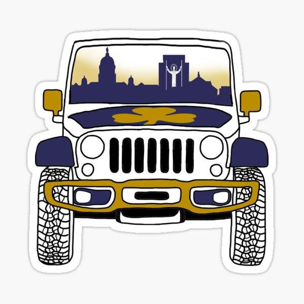 ND jeep sticker Sticker