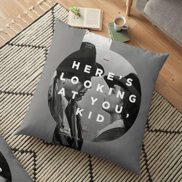 Casablanca [Rick Blaine] - Famous Quotes Series 008 Floor Pillow