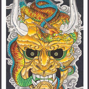 Hanya & Dragon by asplashofcolor