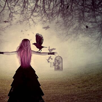 Woman with a crow by AnnArtshock