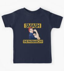 SMASH the patriarchy rosie riveter Kids Clothes