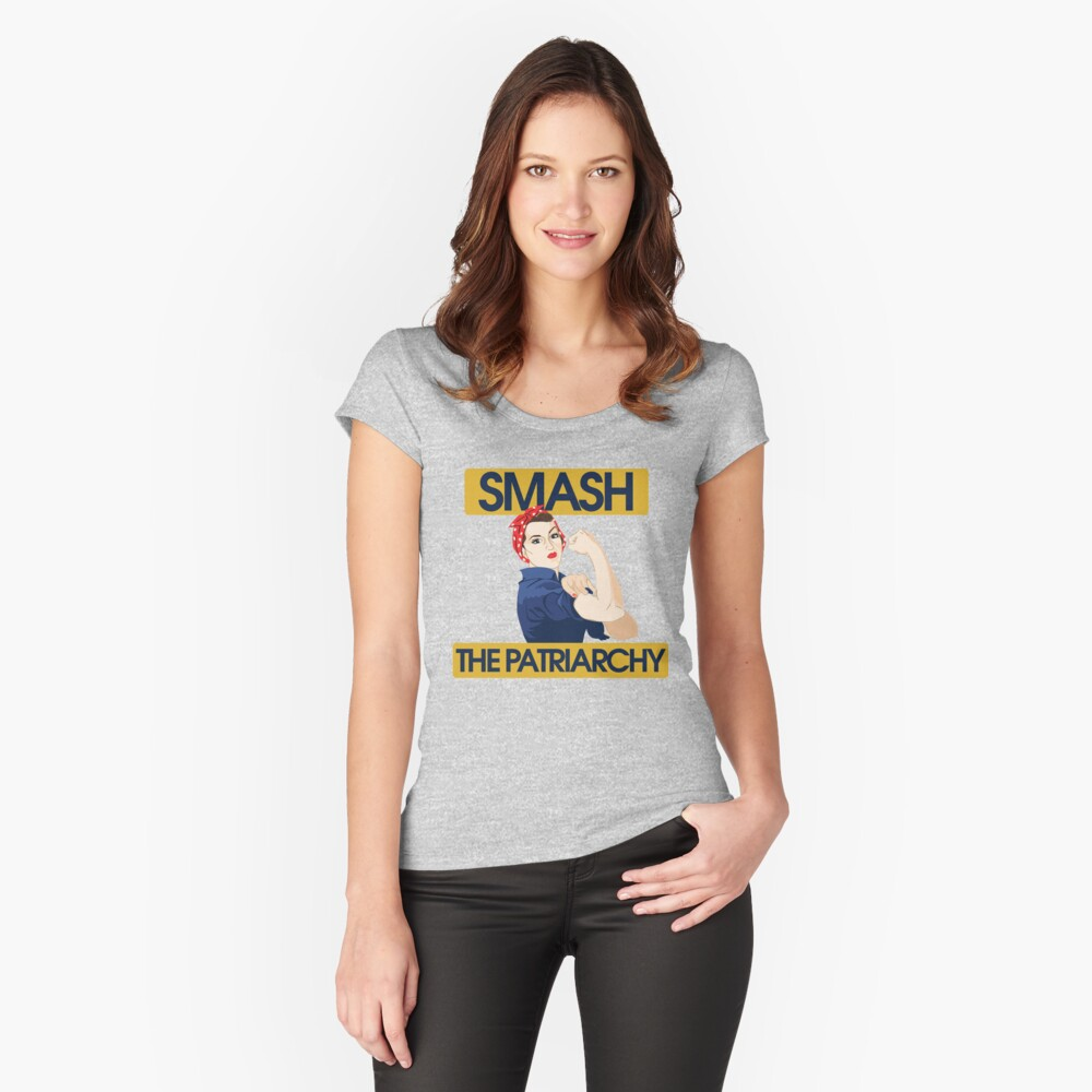 SMASH the patriarchy rosie riveter Fitted Scoop T-Shirt
