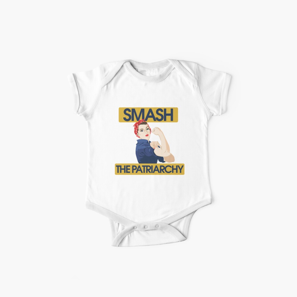 SMASH the patriarchy rosie riveter Baby One-Piece