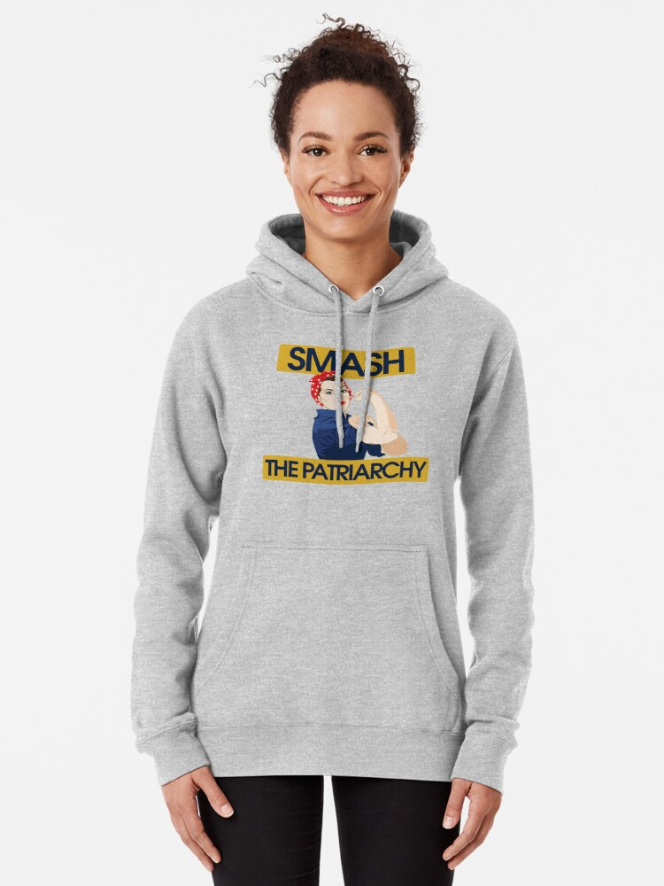 Alternate view of SMASH the patriarchy rosie riveter Pullover Hoodie
