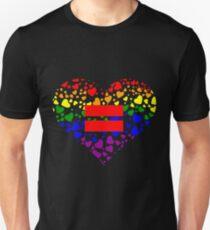 Hearts in Heart Love Wins design T-Shirt