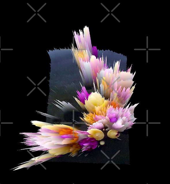 flowers 3d abstract digital painting by A EZKA