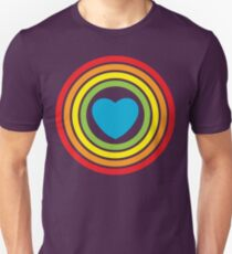 vintage rainbow heart T-Shirt
