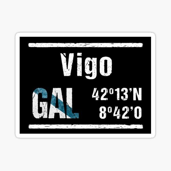Vigo Galicia Coordenadas Pegatina