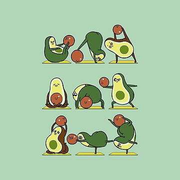 Avocado Yoga With The Seed by Huebucket