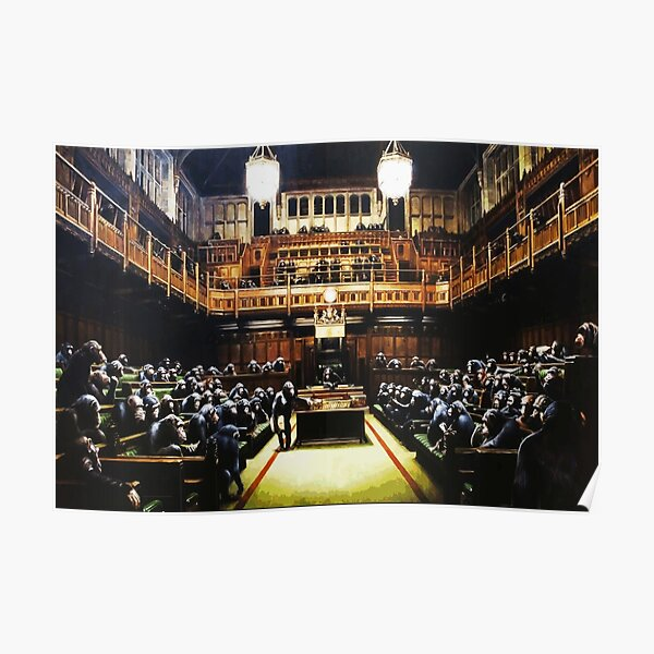 Banksy Monkey Parliament Poster