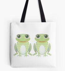 Happy Twin Frogs Tote Bag