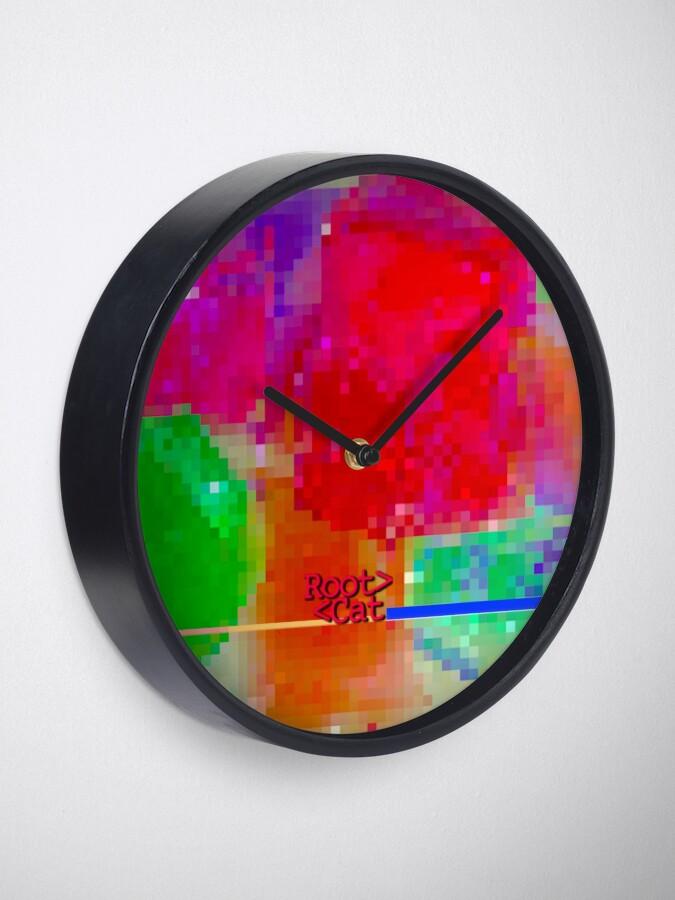 Alternate view of J^LLY M^ [機器間 says] Pixel Art Clock