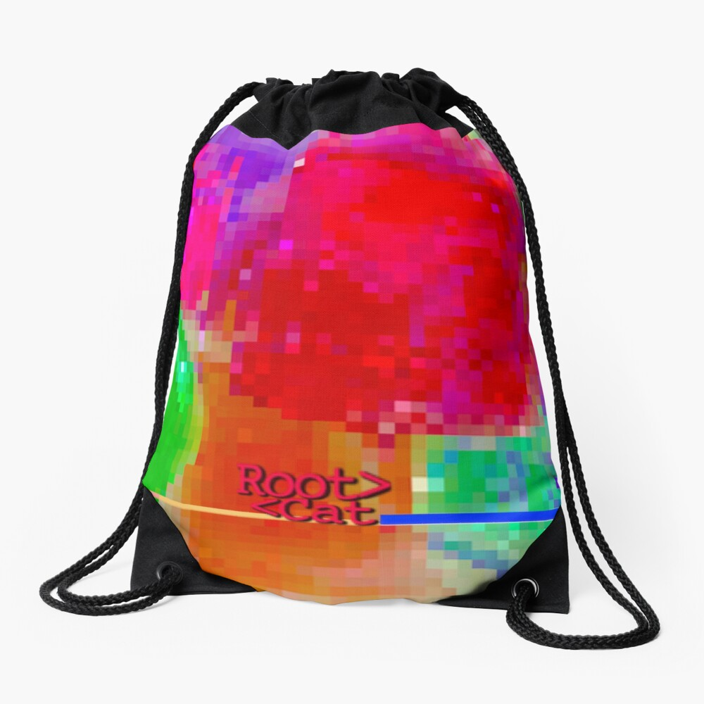 J^LLY M^ [機器間 says] Pixel Art Drawstring Bag