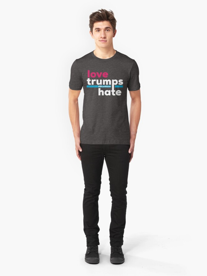 Alternate view of Love Trumps Hate Slim Fit T-Shirt
