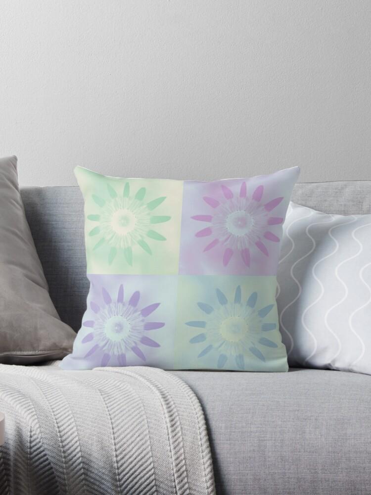 Pastel Pop Art Floral. Pantone Color of 2018: Ultra Violet by tanjica