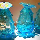 Turquoise Vases by Detlef Becher