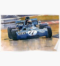 Tyrrell Ford 003 Jackie Stewart 1971 French GP Poster
