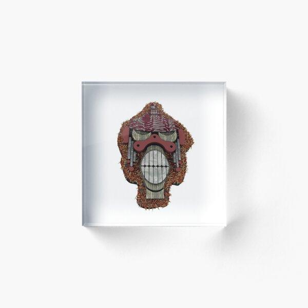 Monkey Teeth 3D Acrylic Block
