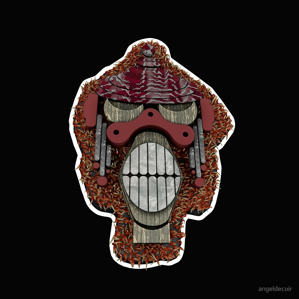 Monkey Teeth 3D by angeldecuir