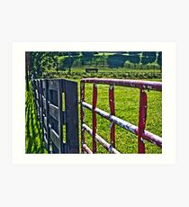 Farm Gate Art Print