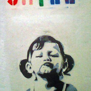 Banksy Smile Girl by furioso