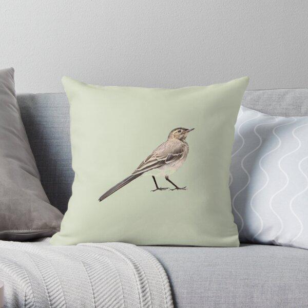 Little bird is little wagtail v1 Throw Pillow