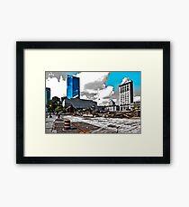 Downtown's Destruction Framed Print