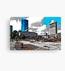 Downtown's Destruction Canvas Print