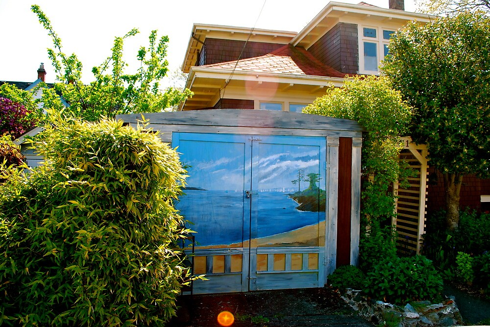 Artistic Garden Shed Doors... by Carol Clifford