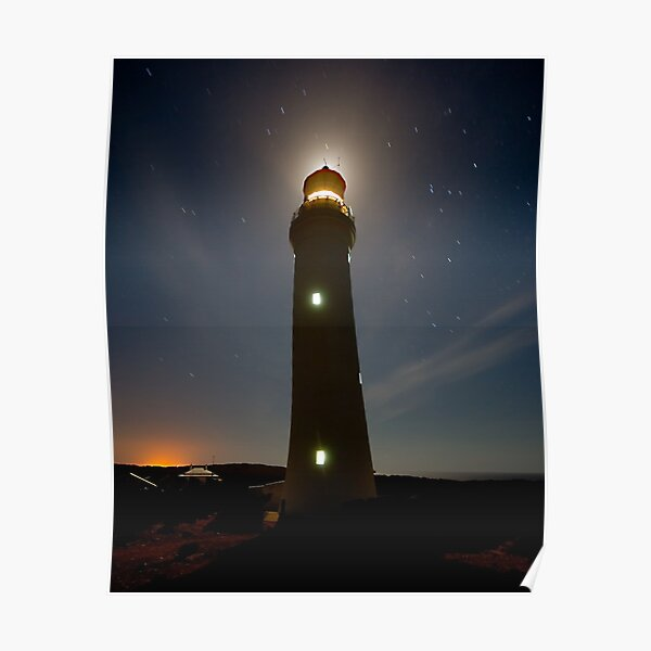 Cape Nelson Lighthouse Halo Poster