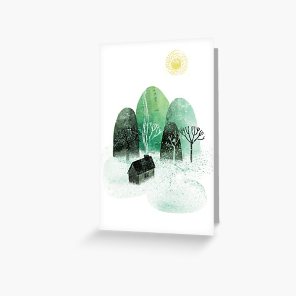 Home by the Mountains Greeting Card
