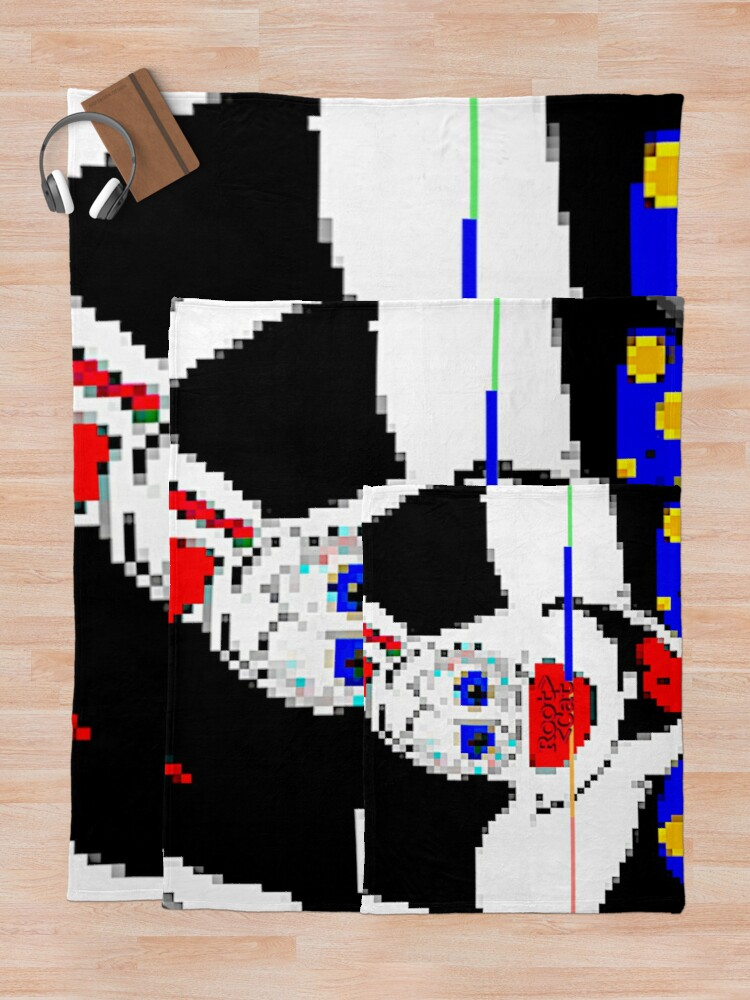 Alternate view of CART^^N CL^^WN C^T Throw Blanket