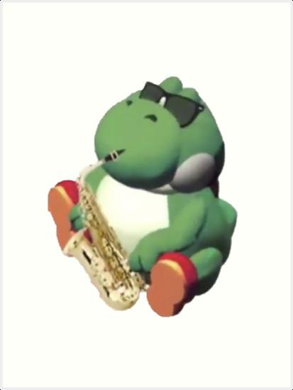 Fat Yoshi Jazz Art Prints By Aba5428 Redbubble