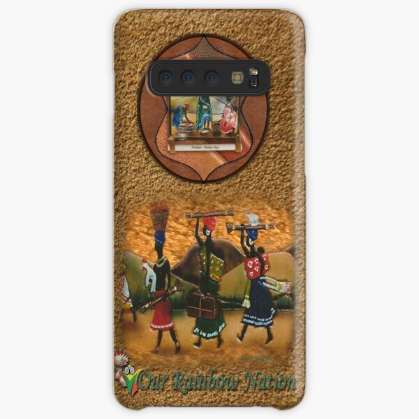 African procession - in leather Samsung Galaxy Snap Case