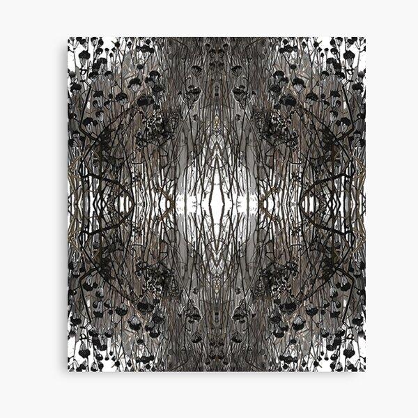 #Tree #Monochrome #Pattern #Design Symmetry nature tree wood old pattern dry Canvas Print