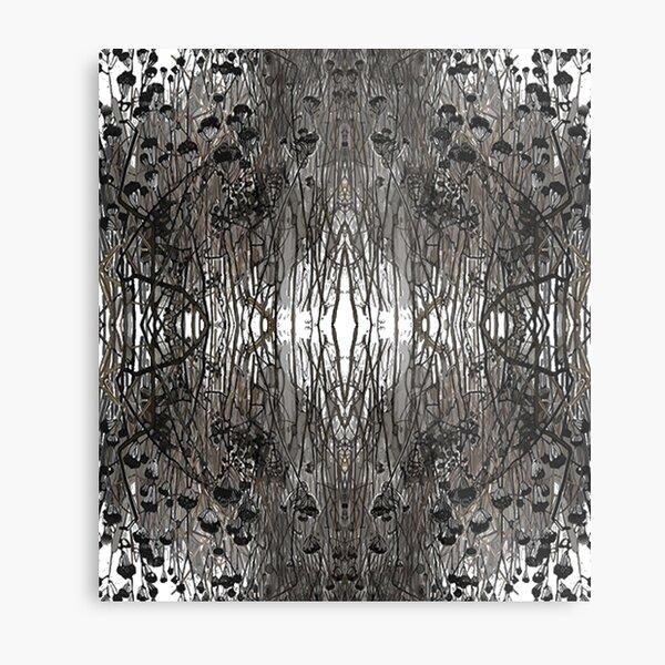 #Tree #Monochrome #Pattern #Design Symmetry nature tree wood old pattern dry Metal Print