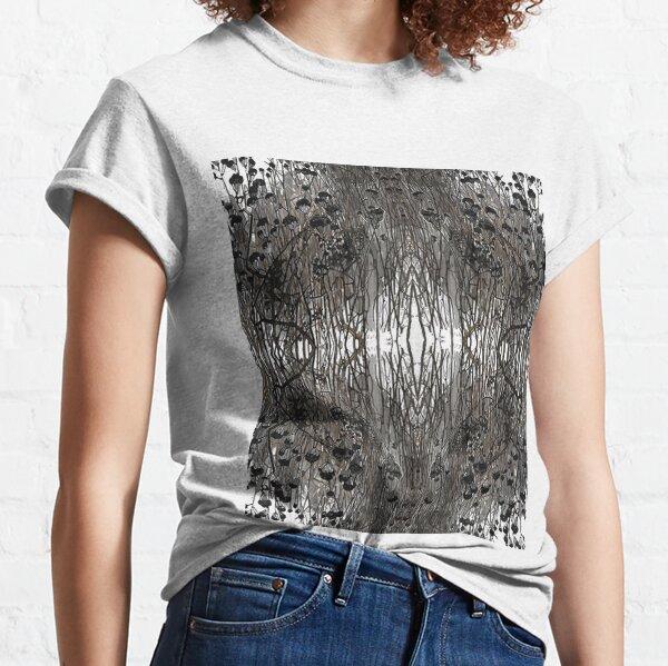 #Tree #Monochrome #Pattern #Design Symmetry nature tree wood old pattern dry Classic T-Shirt