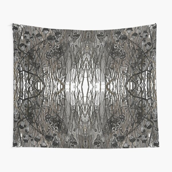 #Tree #Monochrome #Pattern #Design Symmetry nature tree wood old pattern dry Tapestry