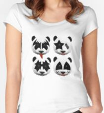 panda kiss  Women's Fitted Scoop T-Shirt
