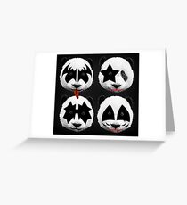 Famous people greeting cards redbubble panda kiss greeting card m4hsunfo