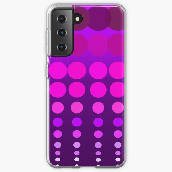 Polka Dots Madness Pink/Purple Samsung Galaxy Soft Case