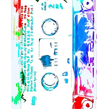 Old School Big Cassette  by robotface