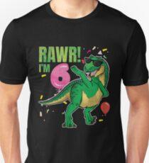 Rawr Im 6 6th Birthday Dinosaur Gift For Six Years Old T Shirt Unisex