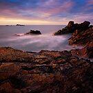 Eyemouth Sunset - Berwickshire, Scottish Borders by David Lewins