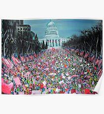 Frauenmarsch in Washington Poster