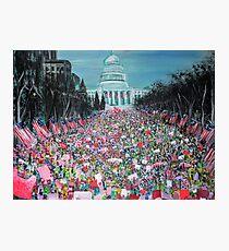 Lámina fotográfica Marcha de mujeres en Washington