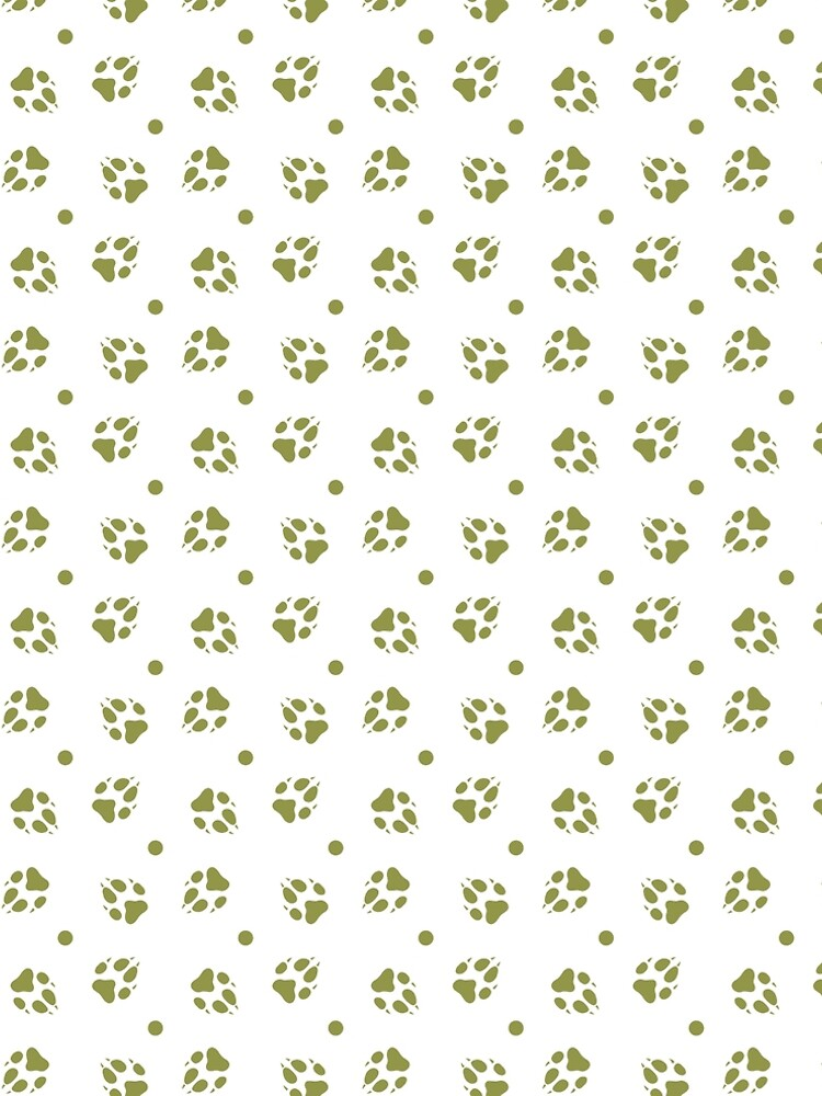 Seamless pattern with dog tracks Animal background by aquamarine-p