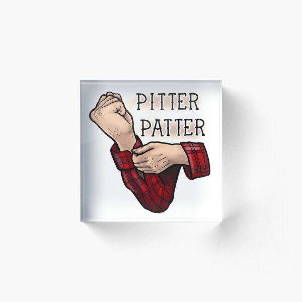 Pitter prasseln Acrylblock