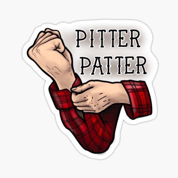 Pitter prasseln Sticker