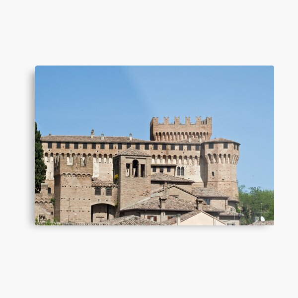 italian renaissance small town of Gradara Metal Print